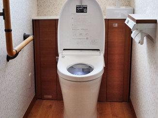 トイレリフォーム 収納つきでスッキリ使いやすいトイレ